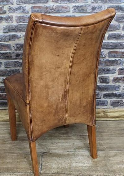 Distressed leather dining