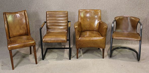 Tan Leather Dining Chair Classic Design In Beautiful
