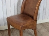 aged leather chairs