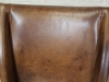 aged leather dining chairs