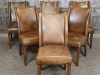 aged vintage style leather chairs
