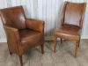 distressed leather chairs