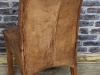 distressed leather dining chairs