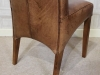 leather vintage style dining chair