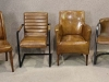 rustic leather chairs