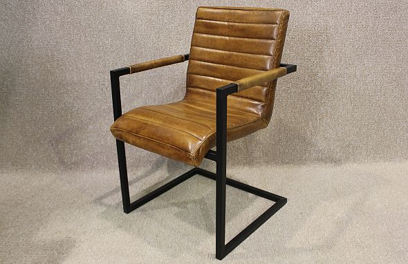 industrial style leather chair vintage style