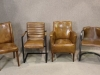 industrial style leather chairs