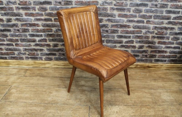 Vintage Leather Dining Chairs retro style leather dining chair