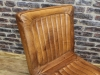 aged leather dining chair
