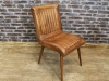 leather kitchen chair tan vintage style