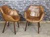 vintage style bucket armchair