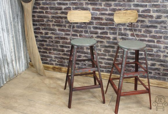Industrial Style Wandsworth Stools Vintage Industrial Retro