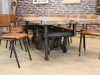 Chelmsford leather kitchen chairs