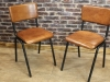 retro industrial style leather chairs