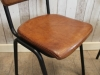 retro style leather stacking chair