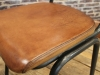 tan leather stacking chair