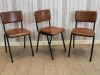 vintage industrial style chairs