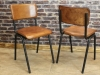 vintage inspired leather Chelmsford chairs