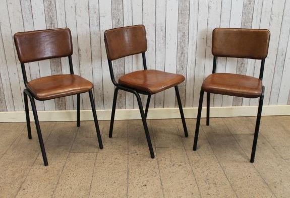 Vintage Style Leather Chair Chelmsford Diningvintage Industrial Retro