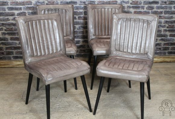Vintage Style Chair Tan Leather Bucket Armchairvintage