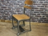 gunmetal vintage inspired chair eton