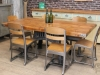 industrial style table chair eton