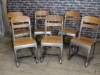 school chair gunmetal eton