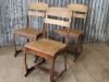 retro style school chair copper
