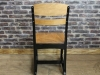black framed eton school chair