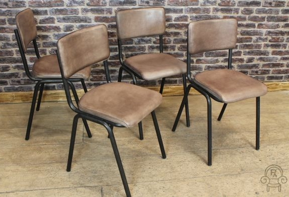 industrial style leather chair