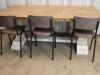 vintage style kitchen seating