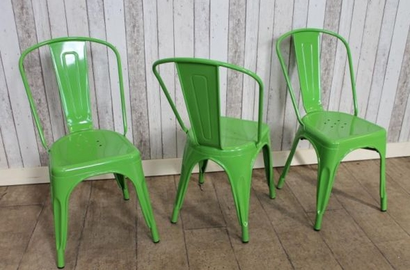 Captivating Bright Colours Green Tolix Style Chairs