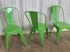 bright colours green tolix style chairs