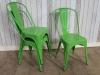 green cafe chairs tolix