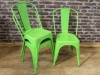 green tolix style chairs stackable vintage