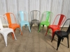 stacking bright tolix style chairs