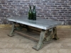 large zinc top coffee table