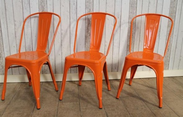 orange stacking dining chair
