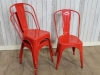 red style tolix chairs