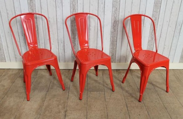 industrial red tolix style cafe chair in vintage style rh vintageindustrialretro com red cafe chairs for sale red cafe chat