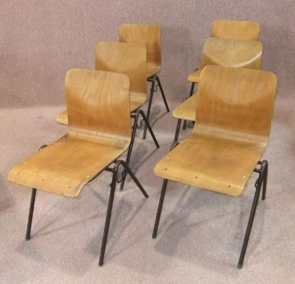 Plywood-stacking-chairs