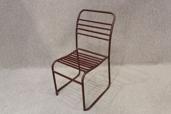 Tubular Stacking Chairs With Spung Seats And Backs Steel