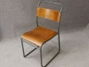 Vintage plywood stacking chair