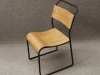 antique stacking school chairs