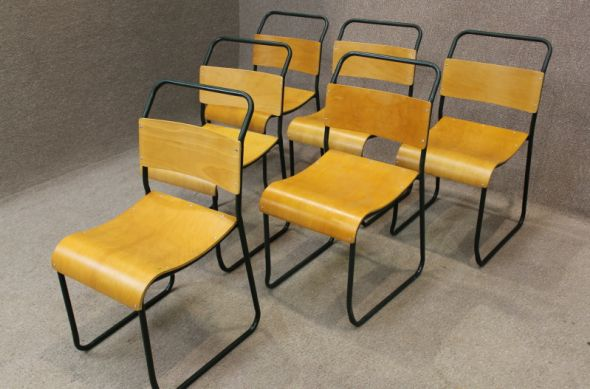 painted frame stacking chairs