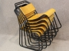 metal stacking chairs set
