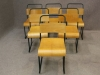 metal stacking chairs with painted frames