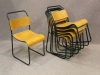 retro metal stacking chairs