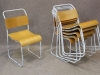 shabby chic painted stacking chairs