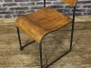 antique metal stacking chairs
